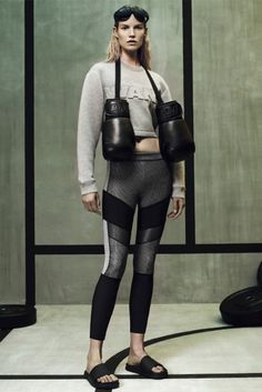 Wang sweatshirt paired with symmetrical patterned leggings. // Alexander Wang for H&M