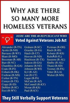 Republicans speak so well of the veterans, it is unfortunate thats about all they do. If only our veterans were not just middle class working men, they might get more then just words from the republican banker types in congress.