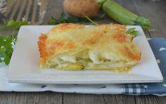 PARMIGIANA DI PATATE ZUCCHINE E MOZZARELLA,un piatto ricco e gustoso ma senza friggere le verdure,quindi più leggero, secondo piatto o piatto unico filante