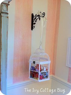 storage for hair bows.little girls room sierra_combs storage for hair bows.little girls room storage for hair bows.little girls room Girl Nursery, Girls Bedroom, Bedrooms, Hair Bow Storage, Old Time Pottery, Princess Room, Daughters Room, Bird Cages, Little Girl Rooms