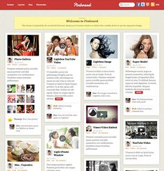 Pinboard Pinterest WordPress Theme | Social Network Template