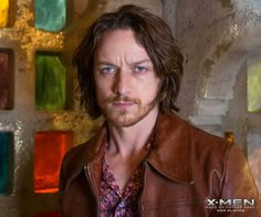 James McAvoy as Professor Xavier in X-Men Days of Future Past. You may be recognizing a pattern here. I like my men with a lot of hair on their heads and faces. Charles Xavier, James Mcavoy Xmen, Glasgow, James Chapter 2, Famous Superheroes, Xmen Apocalypse, Becoming Jane, Days Of Future Past, Men's Day