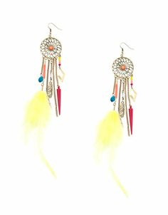 Bershka Philippines - Dreamcatcher earrings