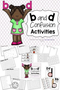 B and D reversals and confusion are so common in beginning readers and writers. Here& some activities that I use to help correct these errors in my struggling readers. First Grade Reading, Student Reading, Teaching Reading, Teaching Kids, Kids Learning, Reading Skills, Learning Spanish, Alphabet Activities, Reading Activities