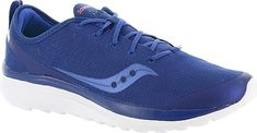 Saucony Women's Shoes in Blue Color. The modern design of this updated runner is ready to help fuel your active lifestyle. Breathable mesh upper. Tie closure. FORM2U Memory Foam footbed. IMEVA midsole. Rubber outsole