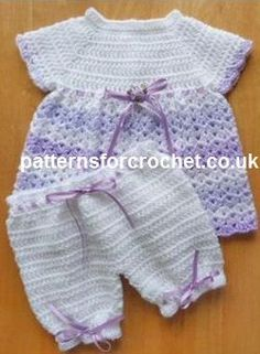 Free baby crochet pattern Angel top and pants USA