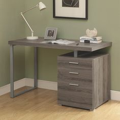 Coaster Contemporary Home Office Desk - Taupe Pefect study space and work station. #SetMeUpBBY   - Online Only