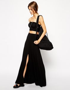 ASOS Maxi Skirt with Front Split