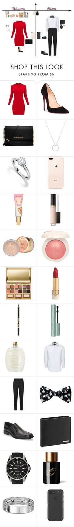 """""""Christmas Party"""" by dancingdiva2005 on Polyvore featuring Christian Louboutin, Michael Kors, Roberto Coin, Asprey, Kandee, Tommy Bahama, Tom Ford, Joseph Abboud, Porsche Design and Gucci"""