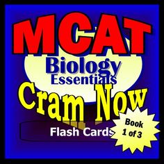 MCAT Prep Test BIOLOGY Flash Cards--CRAM NOW!--MCAT Exam Review Book & Study Guide (MCAT Cram Now! 1) by MCAT Cram Now! http://www.amazon.com/dp/B00JKV2MH4/ref=cm_sw_r_pi_dp_C7pZwb1QWPSGE - 450 questions and answers (ILLUSTRATED). Topics: Cells, Biochemistry and Energy, Evolution, Kingdoms: Monera, Fungi, Protista, Plants, Animals; Human: Locomotion, Circulation, Immunology, Respiration, Excretion,