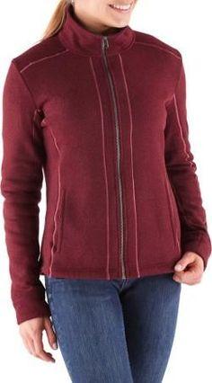 KUHL Women's Stella Full-Zip Fleece Jacket Syrah XL