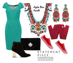 """""""Statement Piece"""" by settygallery ❤ liked on Polyvore featuring 7 For All Mankind, Ayala Bar, Prada, Roland Mouret, Gunne Sax By Jessica McClintock and Steve Madden"""