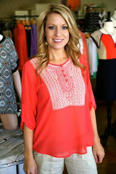 SALE Covered In Coral | Elle THE ELLE BOUTIQUE 479.394.3553