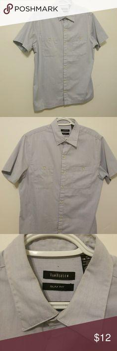 Van Heuson slim fit top In great condition, a little wearing around neckline. Van Heusen Shirts Casual Button Down Shirts