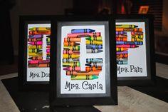 Adorable crayon letter tutorial