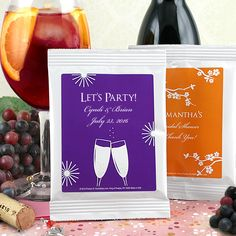 Personalized Sangria - Silhouette Collection- Your wine themed wedding, bridal shower or special event will stand out because you've made certain to have the latest in popular trends, while still keeping some classic elements. One final touch is a pe Bridal Shower Drinks, Bridal Shower Centerpieces, Bridal Shower Signs, Bridal Shower Rustic, Reception Decorations, Birthday Diy, Birthday Party Favors, Sangria Drink, Cocktail Mix