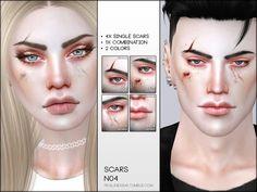 Pralinesims' Face Scars N04