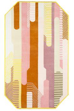 Les plus beaux tapis vus au Salon de Milan 2016 : Tapis Pond, Eli Gutierrez… Art Studio Design, Art Deco Design, Textiles, Tibetan Rugs, Tapis Design, Cheap Carpet Runners, Arte Popular, Geometric Rug, Carpet Design