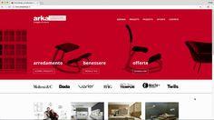 Realizzazione interfaccia grafica  cliente: Arka Design, Ravenna art direction: Agenzia Image, Ravenna