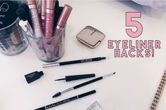 5 Eyeliner Hacks to Apply It Like a Pro! Eyeliner Make-up, Eyeliner Hacks, Eyeliner Application, How To Apply Eyeliner, Applying Eyeliner, Pro Makeup Tips, Hacks Every Girl Should Know, Eye Liner Tricks, Like A Pro