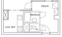 panelákové jádro bytu 2+1 - Hledat Googlem Floor Plans, Diagram, Google, Floor Plan Drawing, House Floor Plans