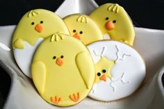 Easter Cookies - The Royal Icing Queen - Baby Chicks