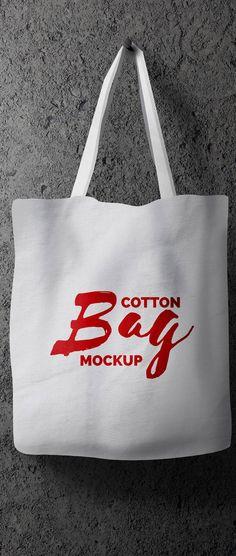 Free Hanging Cotton Bag Mockup PSD   Download Mockup   #free #photoshop #mockup…