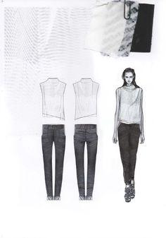 Fashion Sketchbook - fashion design drawings & fabrics; fashion portfolio // Amy Dee