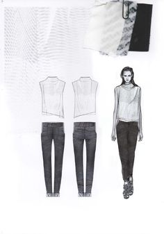 Fashion Sketchbook - fashion design drawings & fabrics; fashion portfolio // Amy Dee