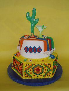Mexican Fiesta Birthday Cake by CakesUniqueByAmy.com, via Flickr