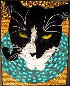 Mosaic Cat Artwork And Custom Designs From by StayCsStainedGlass, $1200.00