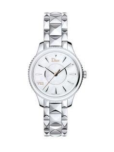 DIOR Dior Viii Montaigne Mother-Of-Pearl & Stainless Steel Bracelet Watch. #dior #watch