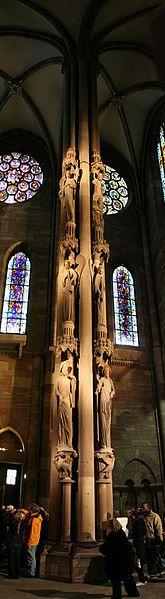 Pilier des anges, Cathédrale Notre-Dame de Strasbourg, Alsace, France