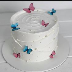 Butterfly Birthday Cakes, Beautiful Birthday Cakes, My Birthday Cake, Butterfly Cakes, Beautiful Cakes, Amazing Cakes, Pastel Cakes, Fun Baking Recipes, Cute Desserts
