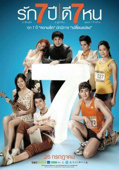 Seven Something - Rak Jed Pee Dee Jed Hon : Thai movie Romantic Comedy Movies, Romance Movies, Drama Movies, Hd Movies, Movies And Tv Shows, Films, Movie Gifs, Movie Tv, Marathon