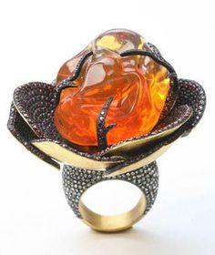 Yossi Harari: Fire Opal ring