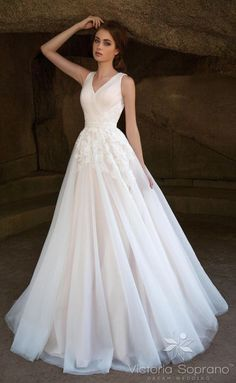 Featured Dress: Victoria Soprano Group; Wedding dress idea.