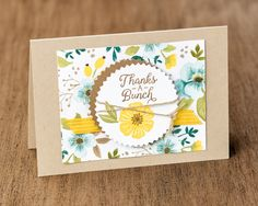 This quick and easy card features several fun new products including the Starburst Punch, Whole Lot of Lovely designer series paper and the Beautiful Bouquet stamp set. #stampinup #annualcatalog2017