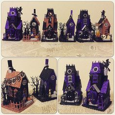 Working very hard to get as many Halloween Paper Houses in time for this Saturday.       Old House Vintage Market  in Golden       I love ...