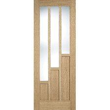 LPD Coventry Oak (Brown) Glazed Internal Door 78in x 30in x 35mm (1981 x 762mm) £151.99