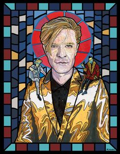 "Martin Fry (ABC) - New Wave Saints Series (11x14in. Acrylic, gouache, and ink on stonehenge paper. 2015)   $15 8x10"" prints available at mlinehamart.bigcartel.com"
