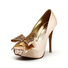 Cranberry, Champagne Wedding Heels, Champagne Gold Wedding Shoes with Glitter, Gold Glitter Wedding Heels, Champagne Gold Wedding Shoes