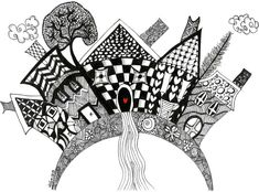 Kathleen's Art Creations, Whimsical Zentangle Art on Note Cards and Prints