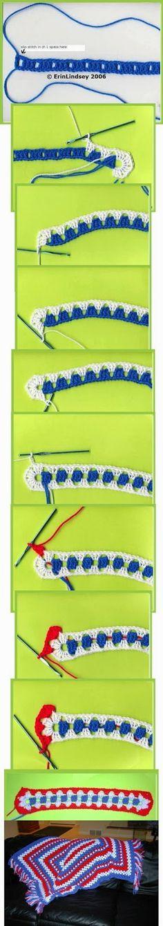 CROCHE DA ANJINHA: Tapete em croche colorido. Granny rectangular