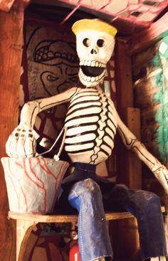 Joel Garcia paper mache skeleton