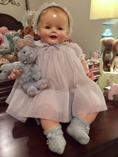 This is my first attempt at restoring a 70+ year old composition doll!  I am amazed at the difference.  See my other board on composition restoration for the before picture!  I am self-teaching composition doll restoration.
