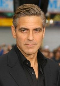 george clooney wavy hairstyle celebrity men