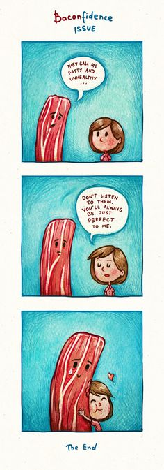 Baconfidence by Maria Tiurina, via Behance