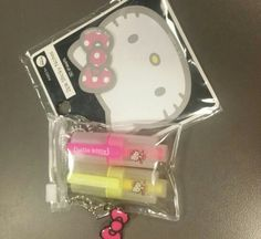 My hello kitty post it notes and highlighters  :)