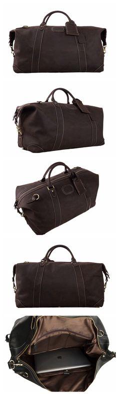 26eedaa41e Handmade Vintage Genuine Cowhide Leather Travel Bag